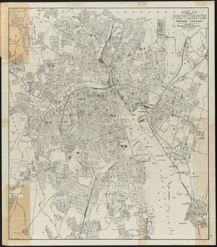 Map of Providence, Rhode Island - Norman B. Leventhal Map ...