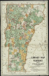 Library map of Vermont, 1914