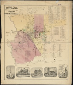 Plan of Rutland, Rutland County, Vermont