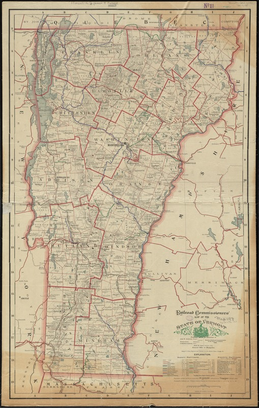Railroad Commissioners' map of the State of Vermont