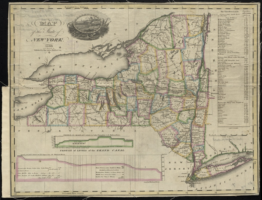 Map of the State of New York