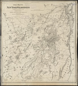 Colton's Map of the New York Wilderness