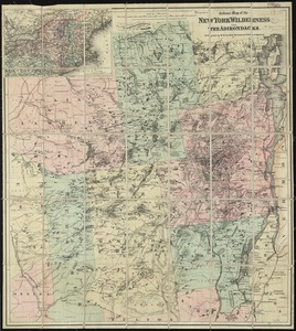 Colton's map of the New York Wilderness and the Adirondacks