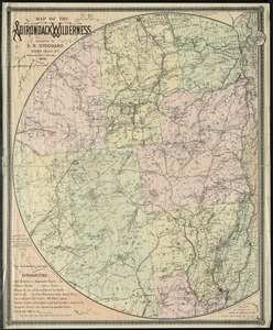 Map of the Adirondack wilderness