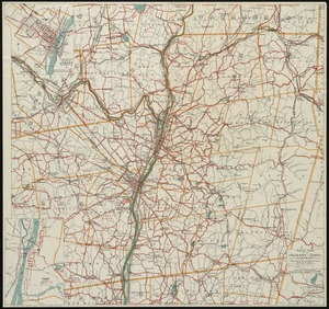 Road map of the Albany-Troy district