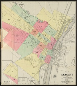 Map of the cities of Albany and Rensselaer and portions of Bath and East Greenbrush, New York