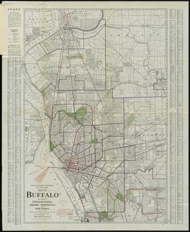 The MatthewsNorthrup uptodate map of Buffalo and Towns of