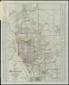 The Matthews-Northrup up-to-date map of Buffalo and Towns of Tonawanda, Amherst, Cheektowaga and West Seneca