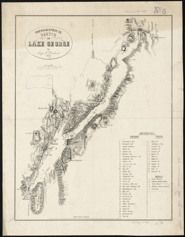 Topographical sketch of Lake George