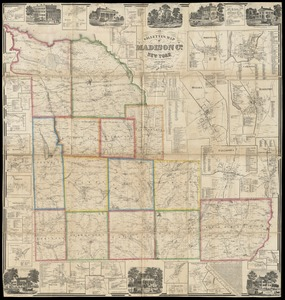 Gillette's map of Madison Co., New York