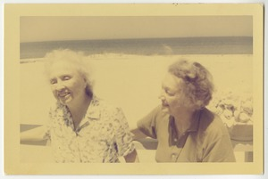 Helen Keller and Katherine Cornell at Martha's Vineyard, June 1961