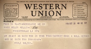 """From Walter G. Holmes, """"Uncle Walter"""""""