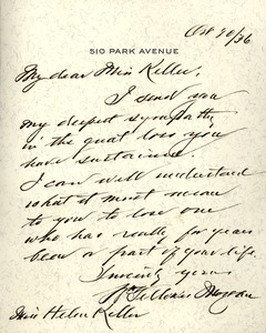 Letter from Morgan