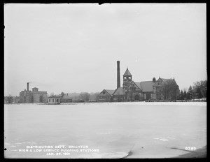 Distribution Department, Chestnut Hill Low Service and High Service Pumping Stations, Brighton, Mass., Jan. 25, 1901