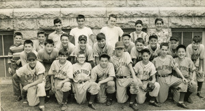 1950s youth baseball team photo