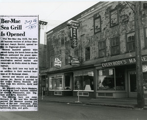 Ber-Mac Sea Grill opening July 26, 1951 on Exchange St.