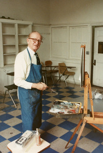 Artist William Draper at work