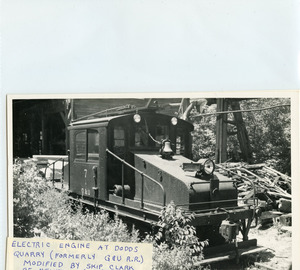 Electric engine at Dodds Quarry