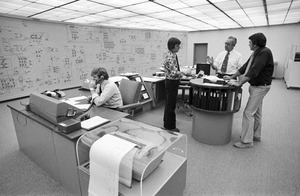 New England Electric Systems power grid control room, Westborough