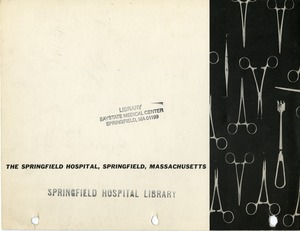Springfield Hospital Annual Report 1956