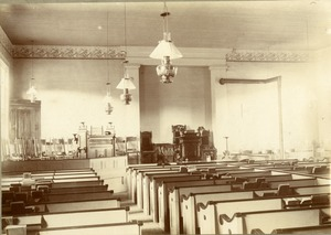 Buckland 1st Congregational Church Sanctuary, Buckland, Mass., circa 1900