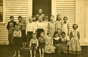 Buckland Center School students and teachers, Buckland, Mass., 1893