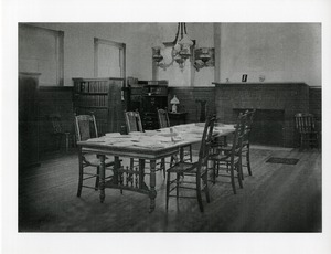 Buckland Public Library interior glass plate, Buckland, Mass., 1891