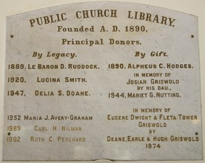 Buckland Public Library memorial tablet, Buckland, Mass.