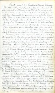 Facts about the, Buckland Church Library, 1891 journal, Buckland, Mass.