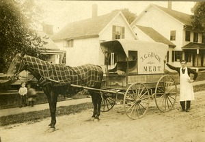 Lewis F. Meyers and J.G. Haigis Meat wagon, Buckland, Mass., circa 1910