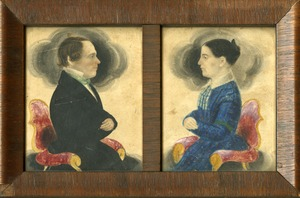 Miniature portraits by James Sanford Ellsworth, Buckland, Mass., circa 1830-1850