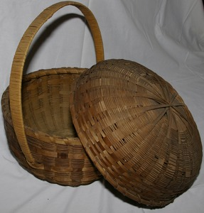 Native American basket, Buckland, Mass., circa 1866