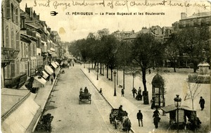 Perigueux, France postcard from Mark L. Purinton, Buckland, Mass., August 11, 1918