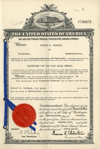 Dr. Robert H. Goddard's Patent for Vaporizers for Use With Solar Energy