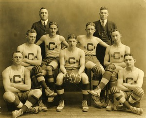 The 1920-1921 Basketball Team of Clark University