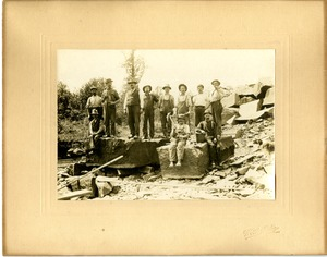East Longmeadow quarrymen at unknown quarry