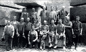 Workers at Billings' Quarry, 1901