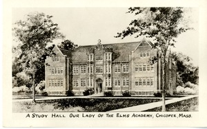 A Study Hall Our Lady of the Elms Academy, Chicopee, Mass