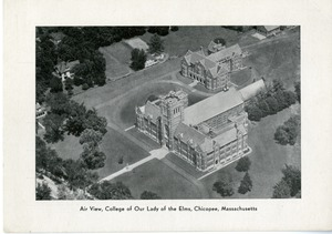 Air view, College of Our Lady of the Elms, Chicopee, Massachusetts