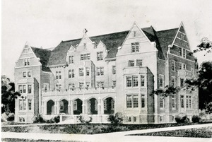 Architect's Drawing of O'Leary Hall Dormitory