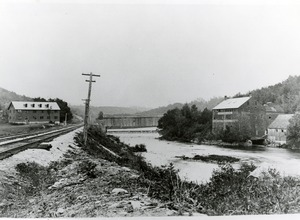 Spillway and Bridge, View from Railroad Tracks, Erving, Mass.