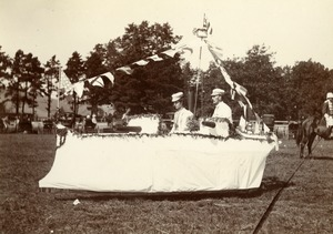 Battleship White Squadron. Harry Kellogg, Miss Ida V. Fisher, Greenfield Coaching Parade 1897 photo 2