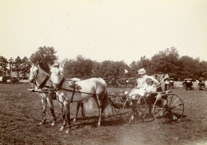 Carriage - Yellow Bunting. Mrs. Willard Pierce. Greenfield Coaching Parade 1897 photo 10