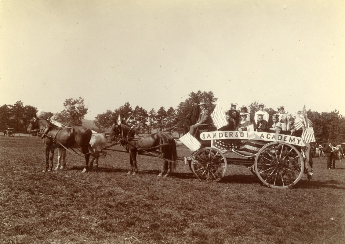 Sanderson Academy. Students. Greenfield Coaching Parade 1897 photo 6