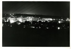 Hopedale on the day of first practice blackout, March 8, 1942