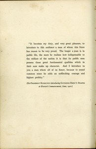 President Theodore Roosevelt's introduction of Massachusetts Governor Eben S. Draper