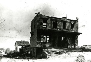 Fire 8, Mahon Bros. after 1882 fire, Hopkinton Massachusetts