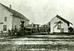 Hopkinton Train Depot, ca 1880