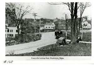 Poseyville looking east, Hopkinton, ca 1880