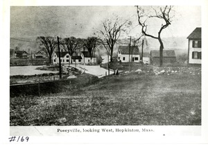 Poseyville, Looking West, Hopkinton, ca 1880